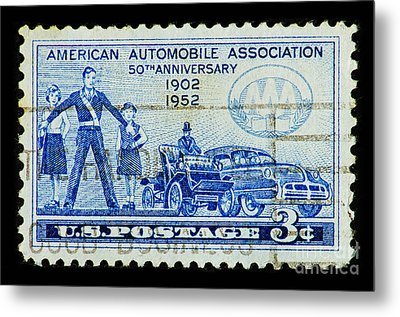 Metal Print featuring the photograph Automobile Association Of America by Andy Prendy