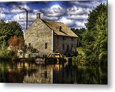 Autum At The Mill Metal Print