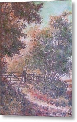 Metal Print featuring the painting Autumn - Gate To Nowhere IIi by Richard James Digance