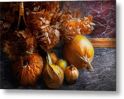 Autumn - Gourd - Still Life With Gourds Metal Print by Mike Savad