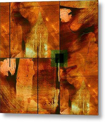 Autumn Abstracton Metal Print by Ann Powell