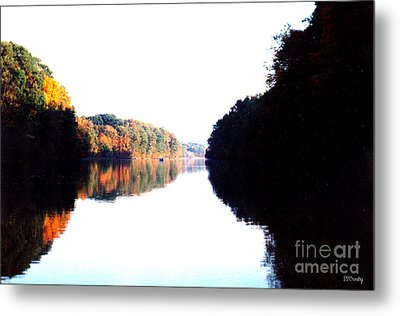 Autumn At Dusk From A Canoe Metal Print