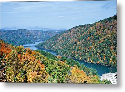 Metal Print featuring the photograph Autumn At Lake Tugalo by Susan Leggett