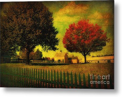 Autumn At The Farm Metal Print by Gina Cormier