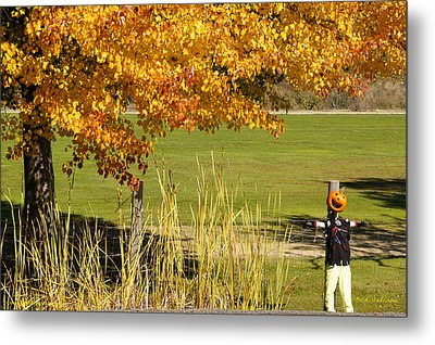 Autumn At The Schoolground Metal Print by Mick Anderson