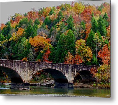 Autumn Bridge 2 Metal Print