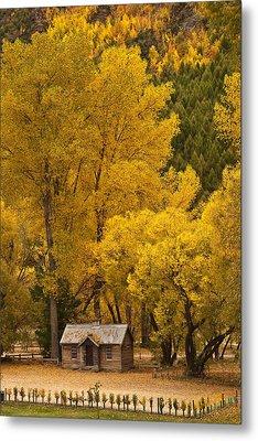 Autumn Cottage Metal Print by Graeme Knox