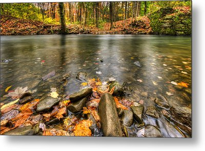 Autumn Creek Metal Print by Yelena Rozov
