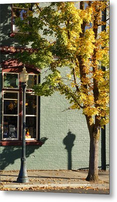 Autumn Detail In Old Town Grants Pass Metal Print by Mick Anderson