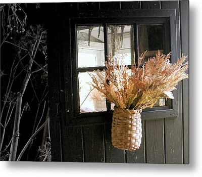 Autumn Door Metal Print