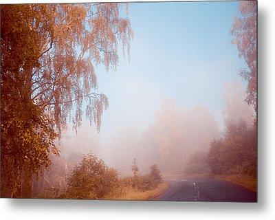 Autumn Fairytale. Misty Roads Of Scotland  Metal Print by Jenny Rainbow