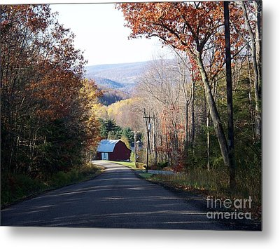 Autumn Farm Metal Print by Christian Mattison