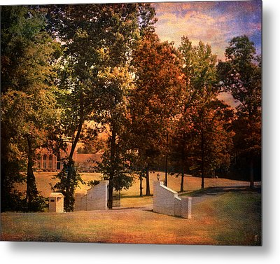 Autumn Gate Metal Print by Jai Johnson