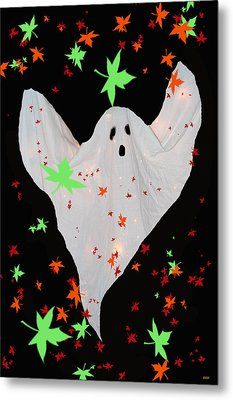 Autumn Ghost Metal Print by Debra     Vatalaro