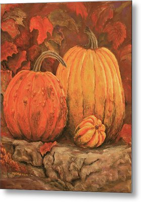 Autumn Harvest Metal Print by Peggy McMahan