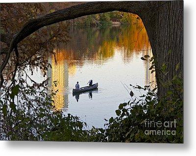 Autumn Idyll On Lake Austin Metal Print by Sean Griffin