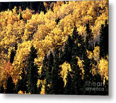 Autumn In Colorado Painting Metal Print by Donna Greene