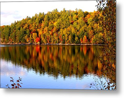Autumn In Cottage Country Metal Print