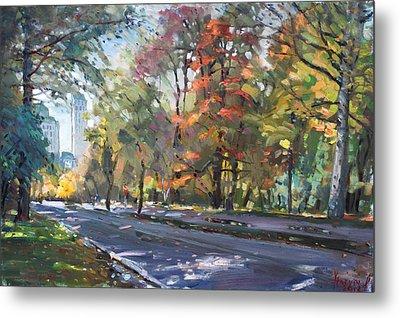Autumn In Niagara Falls Park Metal Print by Ylli Haruni
