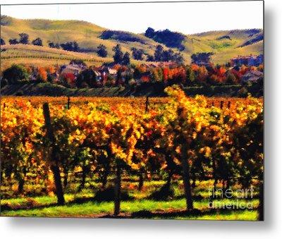 Autumn In The Valley 2 - Digital Painting Metal Print by Carol Groenen