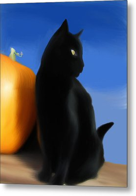 Autumn Kitty Metal Print by Stacy Parker