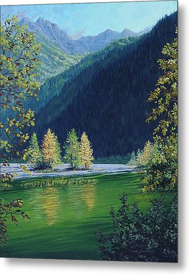 Autumn Knik River Metal Print by Kurt Jacobson