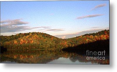 Autumn Lake Panoramic Metal Print by Thomas R Fletcher