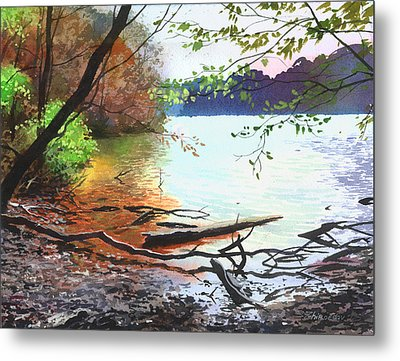 Autumn Lake Metal Print