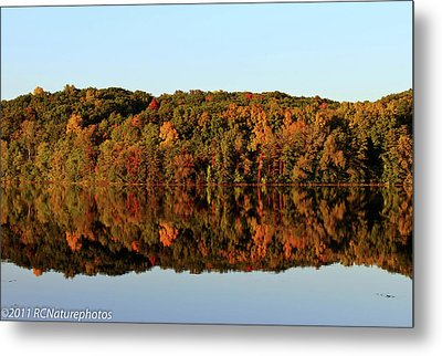 Metal Print featuring the photograph Autumn Mirror by Rachel Cohen
