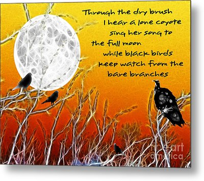 Autumn Moon Metal Print by Methune Hively