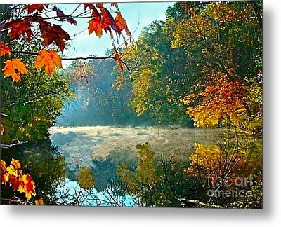 Autumn On The White River I Metal Print by Julie Dant