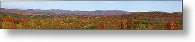 Autumn Panorama Brome Quebec Canada Metal Print by David Chapman