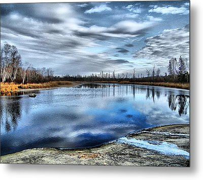 Metal Print featuring the photograph Autumn Reflection by Blair Wainman