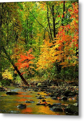 Autumn Reflects Metal Print by Frozen in Time Fine Art Photography