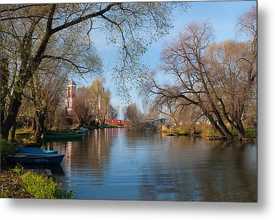 Autumn Scene On The River Metal Print by Konstantin Gushcha