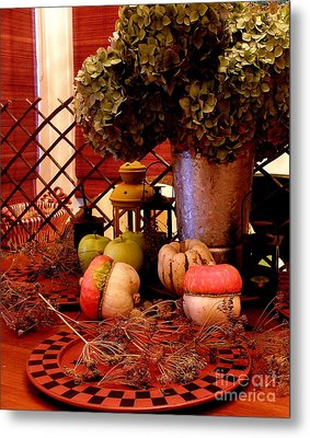 Autumn Still Life  2 Metal Print by Tanya  Searcy