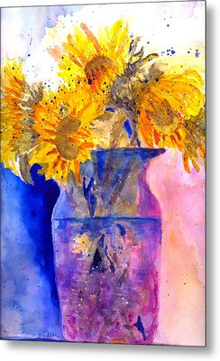 Autumn Suflowers Metal Print
