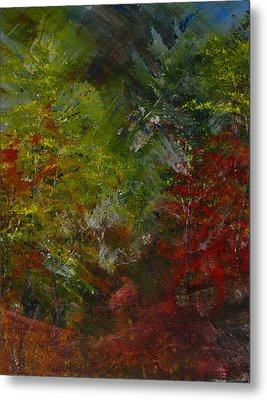 Autumn Sunshine Abstract Metal Print by Sherry Robinson