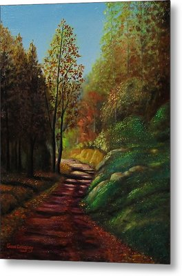 Autumn Trail Metal Print by Gene Gregory