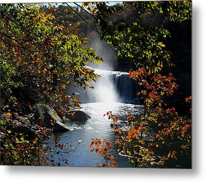 Autumn Waterfall Metal Print