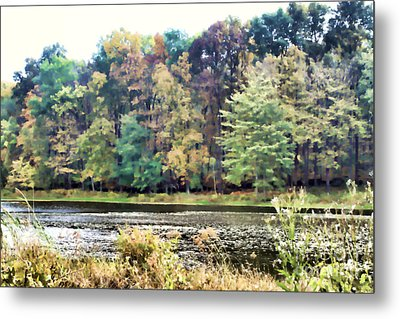 Autumn's Brush At The Red Ant Fort Metal Print by Christine Segalas