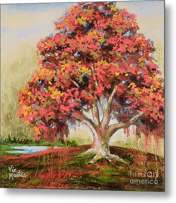Autumn's Delight Metal Print by Vic  Mastis