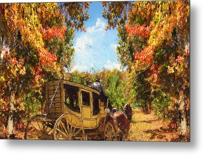 Autumn's Essence Metal Print by Lourry Legarde