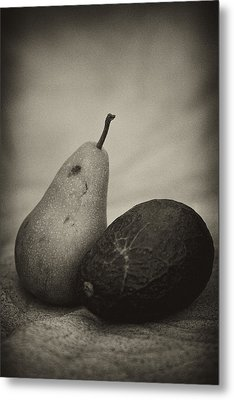Metal Print featuring the photograph Avocado And Pear by Hugh Smith