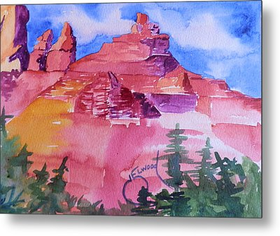 Awesome Red Mountains Metal Print