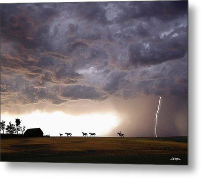 Awesome Storm Metal Print by Bill Stephens