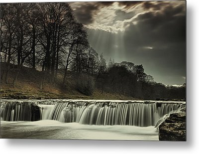 Aysgarth Falls Yorkshire England Metal Print by John Short