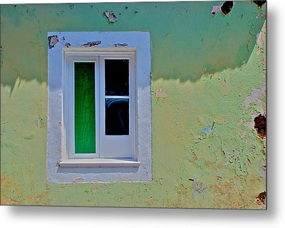 Azores Window Metal Print by Eric Tressler