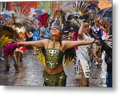Metal Print featuring the photograph Aztec Dancer - San Miguel De Allende by Craig Lovell