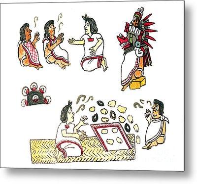 Aztec Medicine, Codex Magliabechiano Metal Print by Science Source